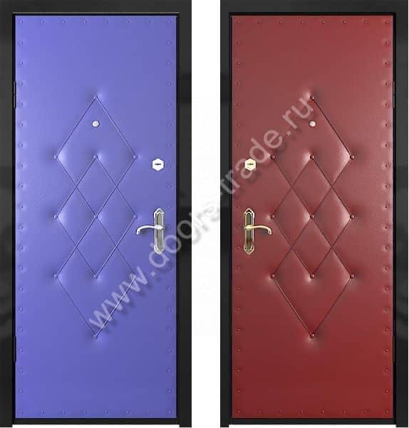 входные железные двери с отделкой винилискожа