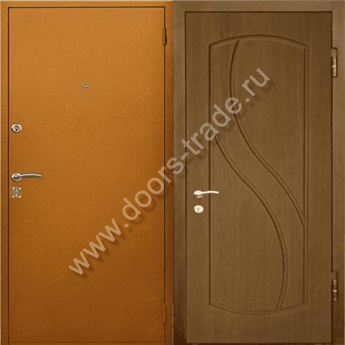 внешние стальные двери с дермантином